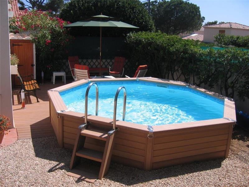 Piscine en kit azteck by waterman for Piscine bois a enterrer