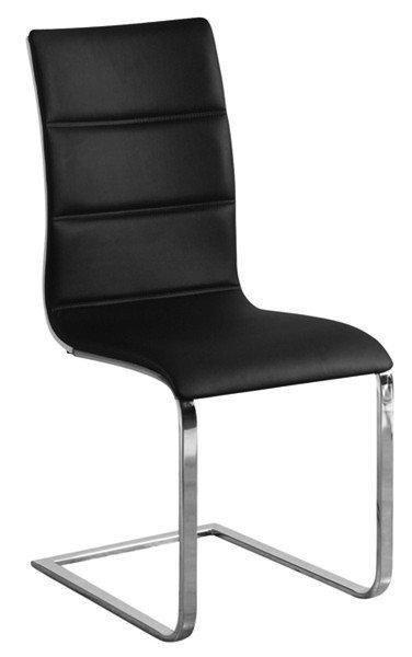 Chaise design sydney en tissu enduit polyurethane simili facon cuir noir doss - Chaise cuir noir design ...