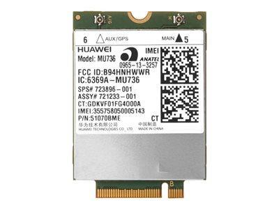 HP HS3110 HSPA+ W10 WWAN - MODEM CELLULAIRE SANS FIL - 3G - M.2 CARD - 21.6 MBITS/S - POUR ELITEBOOK 745 G3, 755 G3, 850 G2