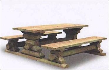banc table en bois massif scandi bois - Table De Jardin En Rondin De Bois