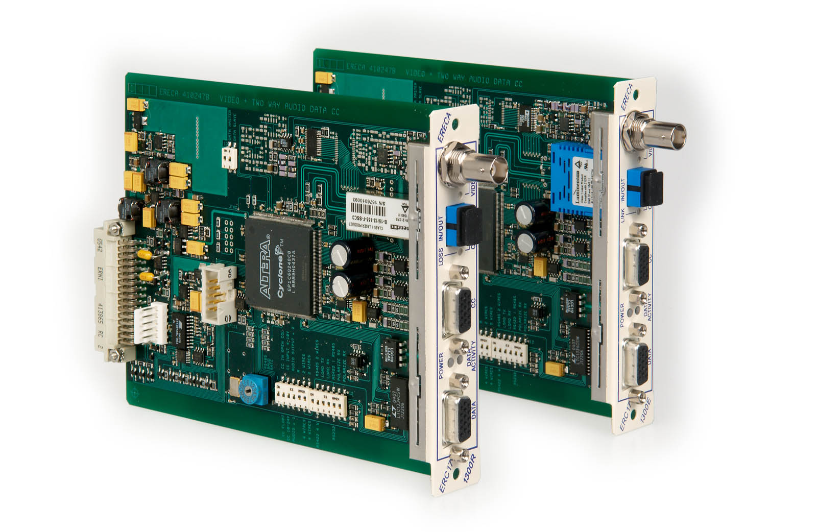 équipement pour transmission optique de signal vidéo / audio / données - erc 1300