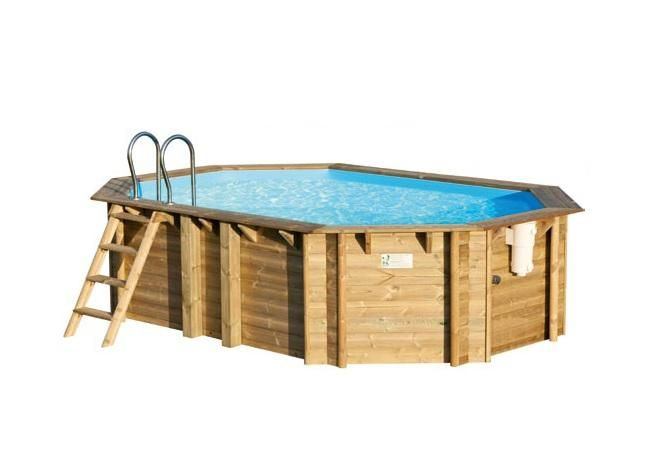Piscine bois tropic octo 460 540 et 640 procopi for Piscine bois enterrable rectangulaire