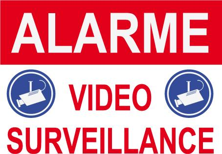 panneau de dissuasion alarme video surveillance 2 cam. Black Bedroom Furniture Sets. Home Design Ideas