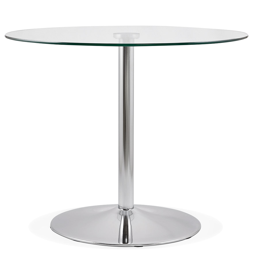 petite table de cuisine ronde youpi en verre o 90 cm