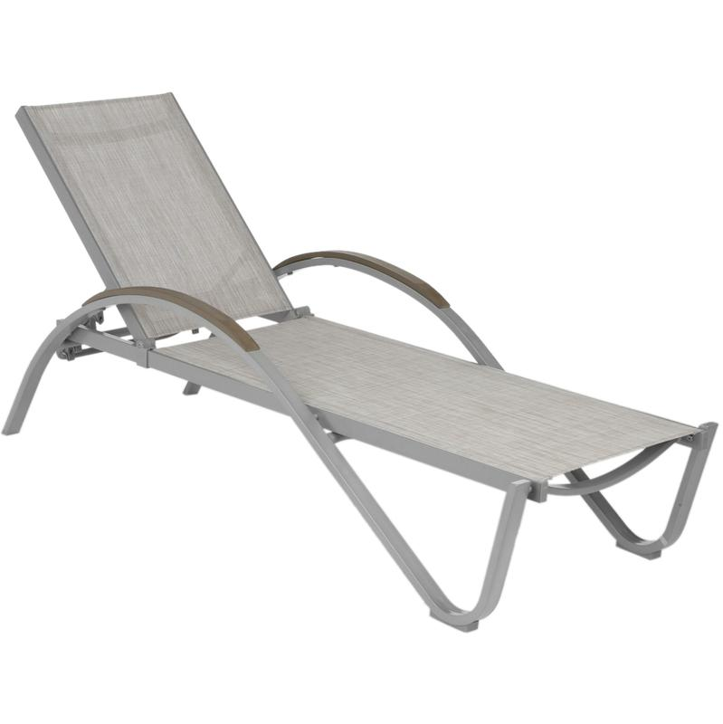 Transat okinawa taupe chin hesperide comparer les prix for Transat chaise longue bois