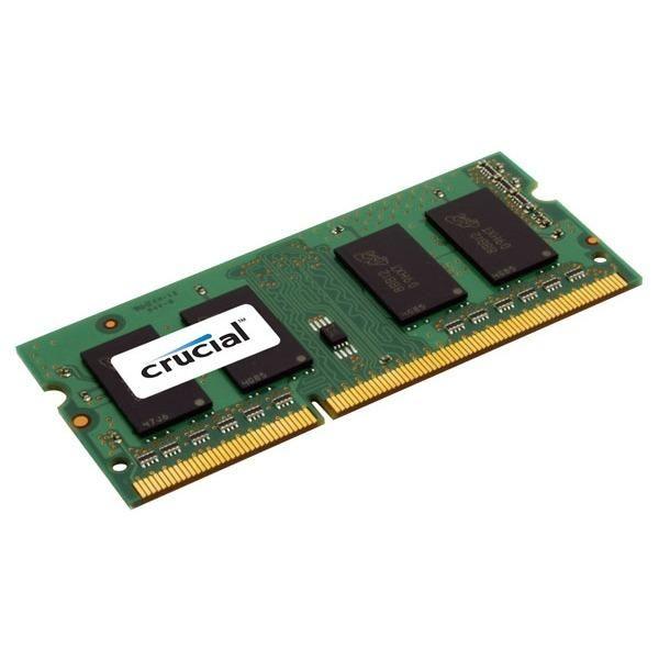 BARRETTES MÉMOIRES INFORMATIQUES CRUCIAL SO-DIMM 8 GO DDR3L 1600 MHZ CL11