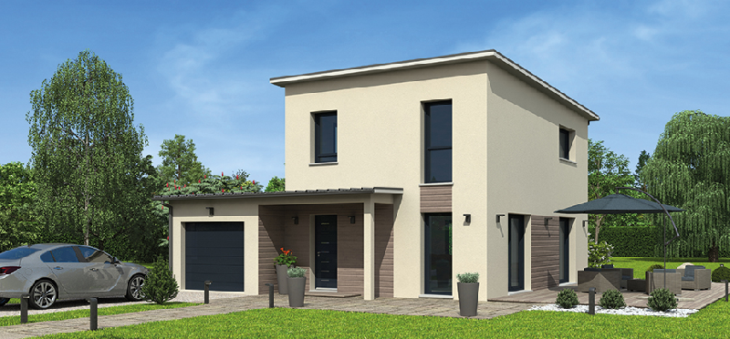 Maisons a ossature en bois tous les fournisseurs for Plan maison 2 etages moderne