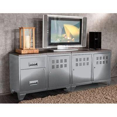 Meuble de télévision métal alu - phsa - 202772