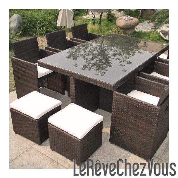 Salon de jardin zenith - Ensemble de table de salon ...