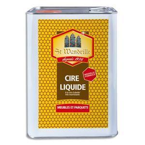 St wandrille bidon de cire liquide à l'ancienne 5 litres à la cire d'abeilles, pour meubles et parquets