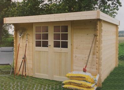 Cabanes en bois abri de jardin bois madriers 28 mm id2067 for Cabane de jardin en bois traite