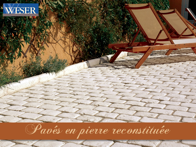Paves terrasse weser for Poser des paves sur sable