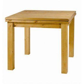 TABLE REPAS CARRÉE AVEC ALLONGE 90 CM