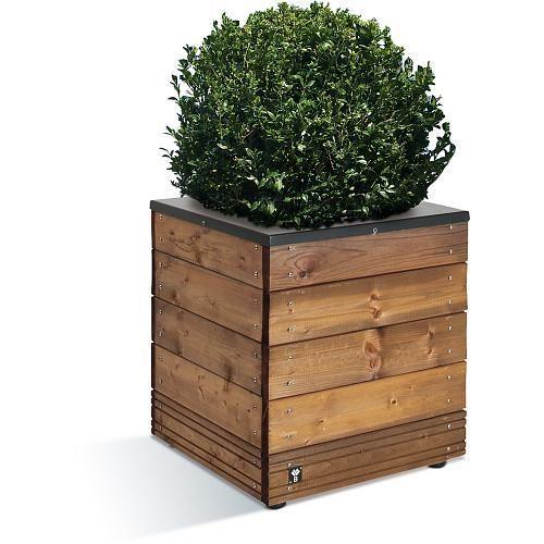 bac fleurs en bois 63 litres 45 x 45 cm hauteur 47 cm selekt jardipolys comparer les. Black Bedroom Furniture Sets. Home Design Ideas