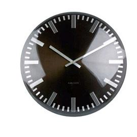 Horloge Dome Index Diametre 50cm En Alu Coloris Gris