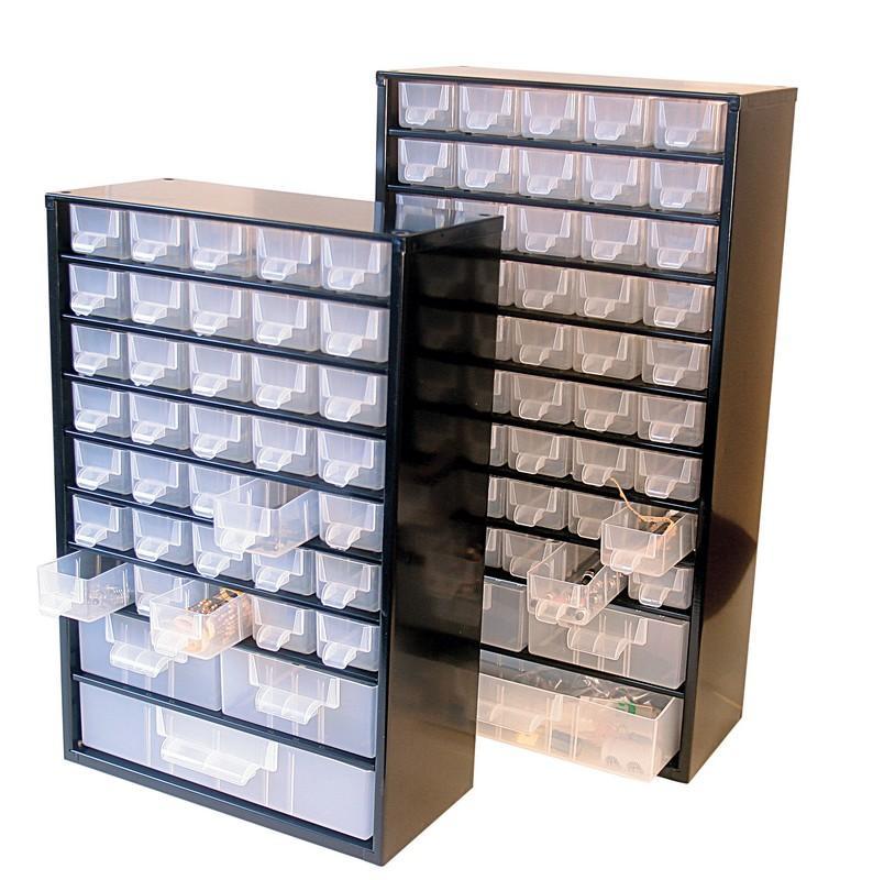 casier de rangement métallique (48 tiroirs)