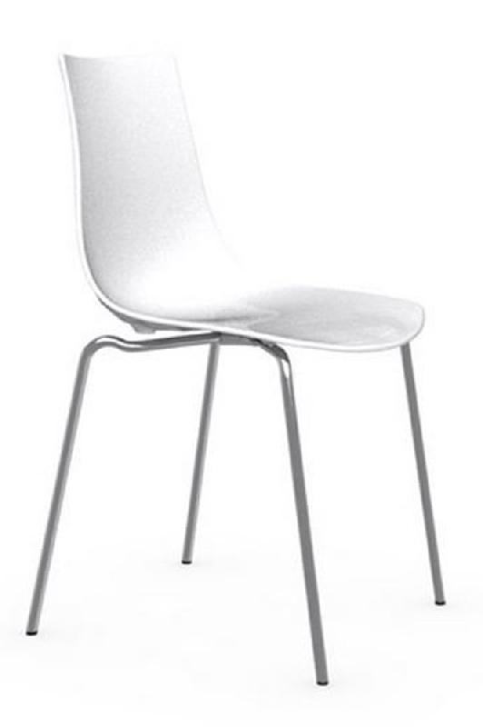 Calligaris brillante blanche design ice chaise cluT13KFJ