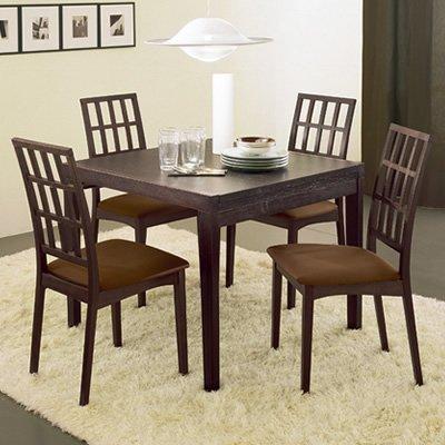 Table extensible poker en bois wenge 90cm - Table extensible wenge ...