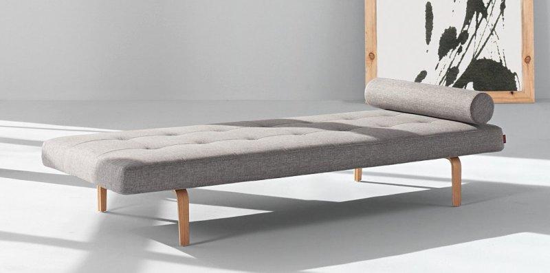 Innovation living napper meridienne lit gris clair pietement en chene 200 80 cm - Matelas capitonne ikea ...