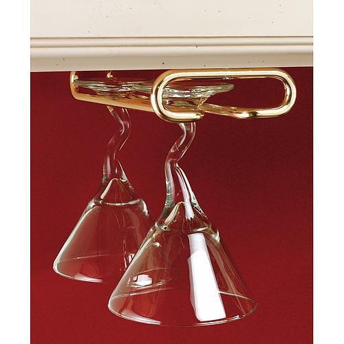 Porte verres suspendu pour 4 verres sous tablette - Porte verres suspendu ...