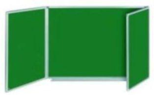 TABLEAU TRIPTYQUE ÉMAILLÉ VERT 5 FACES 1500(3000)X1200 MM