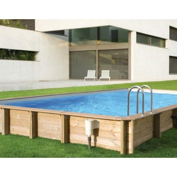 Piscine bois weva rectangle 10 x 5 bleu france hauteur 146cm for Piscine bois fabrication francaise
