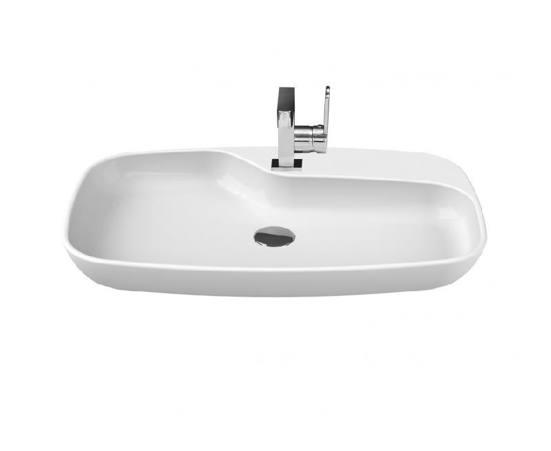 vasque poser design en c ramique 70x43 cm planetebain comparer les prix de vasque poser. Black Bedroom Furniture Sets. Home Design Ideas