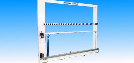 Machine de coupe pour mise a longueur de rideau