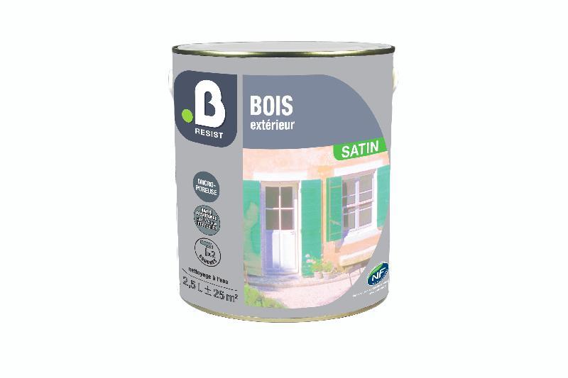 Peinture sp ciale bois b resist blanc satin 2 5l comparer for Peinture speciale bois