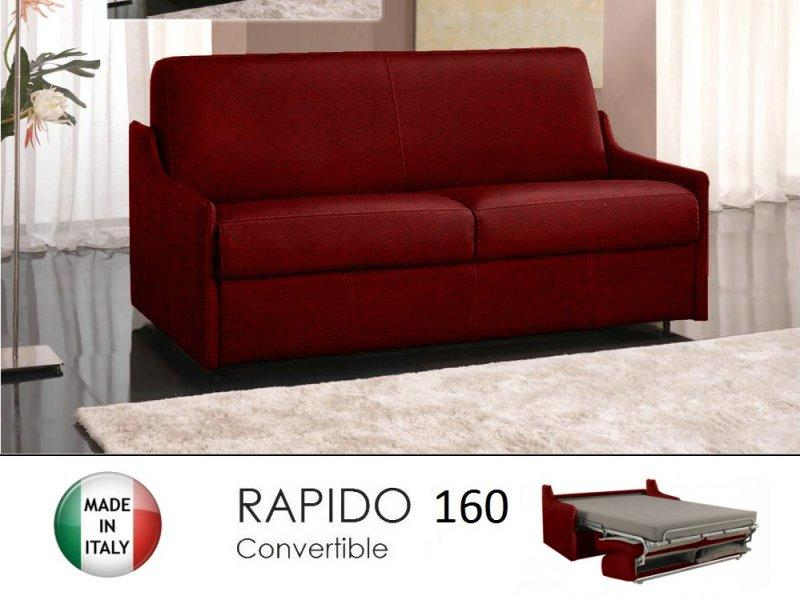 canape lit 4 places luna convertible ouverture rapido 160 cm microfibre bordeaux. Black Bedroom Furniture Sets. Home Design Ideas