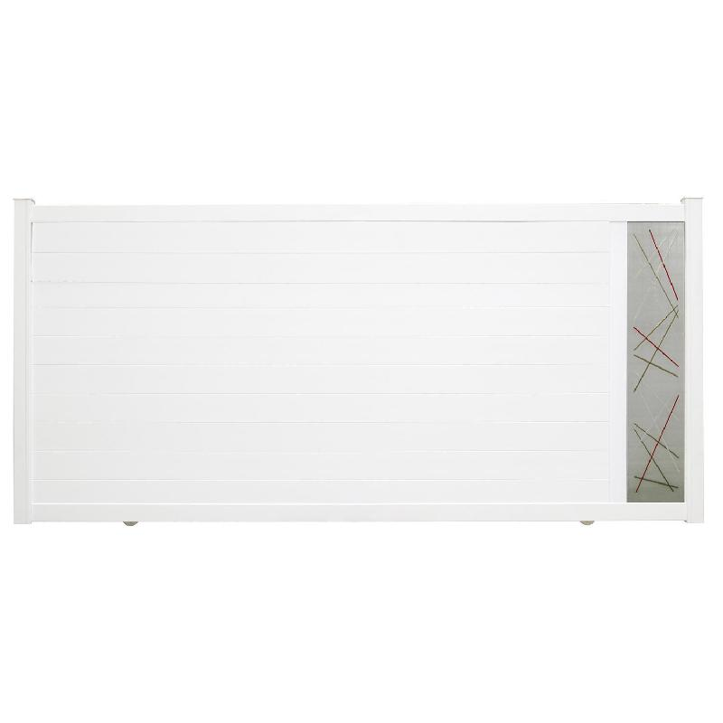 Portail Coulissant Aluminium Vic Blanc Naterial X Cm