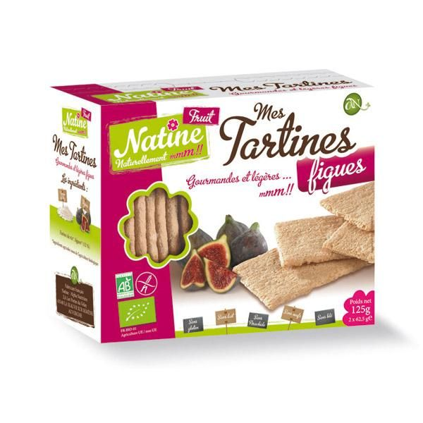 NATINE MES TARTINES FIGUES BIO 150G BISCUITS, ENCAS