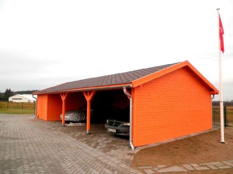 garages et carports en bois preau 70. Black Bedroom Furniture Sets. Home Design Ideas