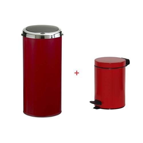 Poubelle automatique rouge poubelle automatique inox avec for Poubelle rouge cuisine