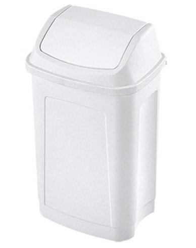 poubelle plastique 10 litres rectangle couvercle basculant blanche comparer les prix de. Black Bedroom Furniture Sets. Home Design Ideas