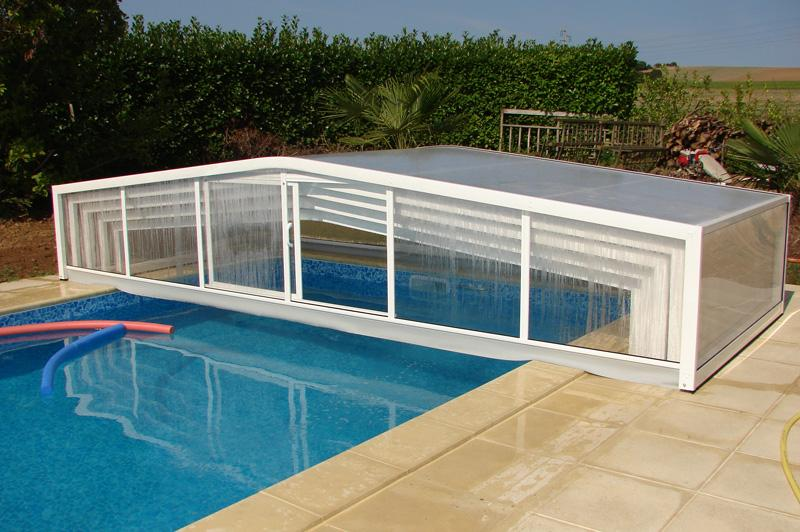 Abris bas de piscine eco 2 pentes for Abri de piscine bas