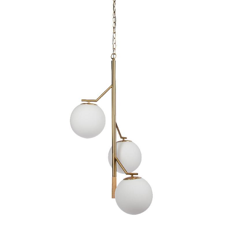 Lampe murale lampadaire décoration design à suspension 3 boules 13_0001350