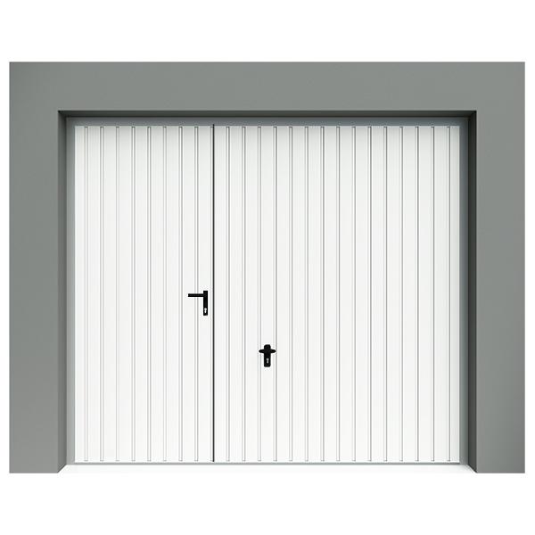 Porte de garage basculante d bordante en acier avec portillon avec rail de guidage 240 - Porte garage basculante avec portillon ...