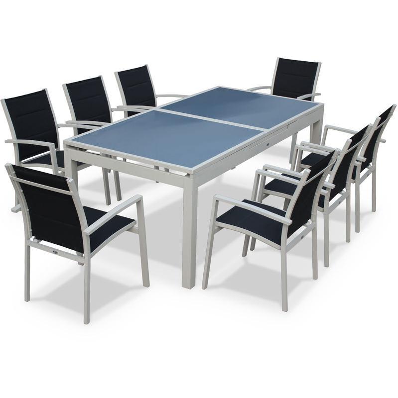 Salon de jardin en aluminium tous les fournisseurs de for Table salon rallonge