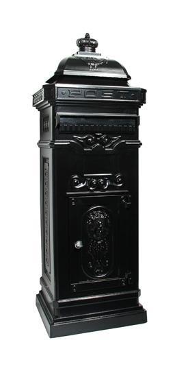 bo te aux lettres ks elegance noire noir. Black Bedroom Furniture Sets. Home Design Ideas