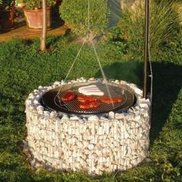gabions decoratifs barbecue circulaire gabion