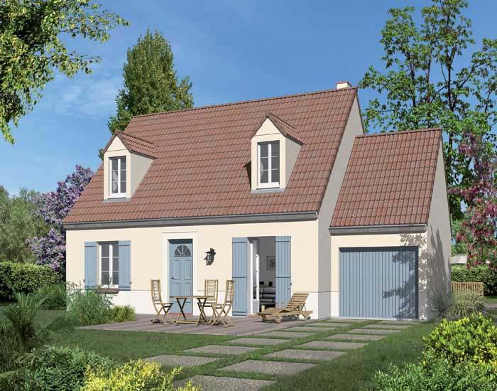 Maison les essentielles mod le avenir authentique avec fa ade droite et lucarnes - Produit pour nettoyer les facades de maison ...