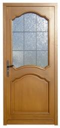 Porte d 39 entree demi vitree ref 4 for Demi porte coulissante