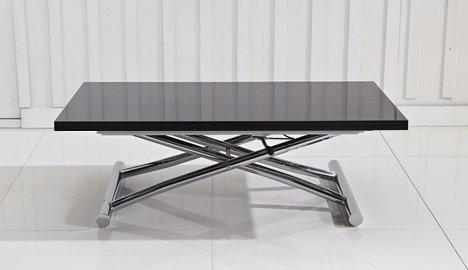 Table basse relevable extensible high and low noir - Table basse relevable extensible alinea ...