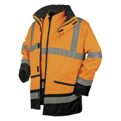 VESTE DE PLUIE HV ORANGE/MARINE BARCLEY SIOEN