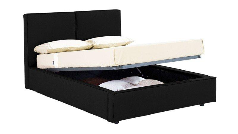 lit coffre design squadra noir couchage 2 personnes 160 200cm. Black Bedroom Furniture Sets. Home Design Ideas
