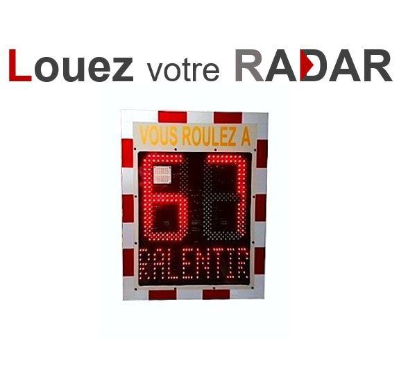 Location radar de vitesse