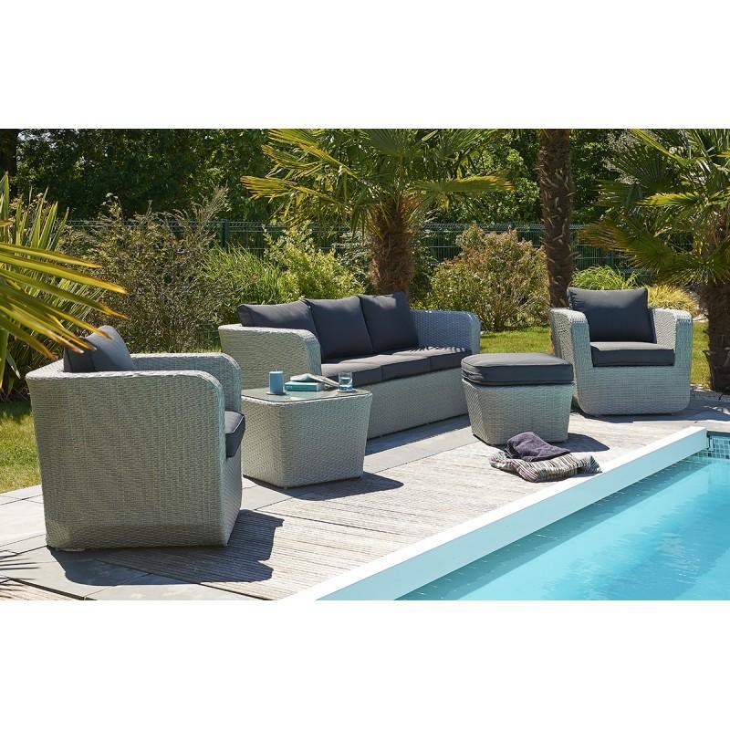 Salon de jardin en aluminium tous les fournisseurs de for Salon de jardin 6 places resine tressee