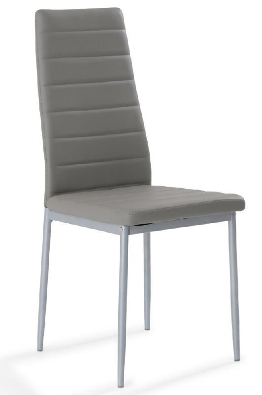 Gris À De Similicuir Mémoire Forme Design Nosa Chaise Assise Rj4A5L