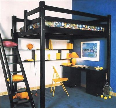 lit mezzanine fanou. Black Bedroom Furniture Sets. Home Design Ideas